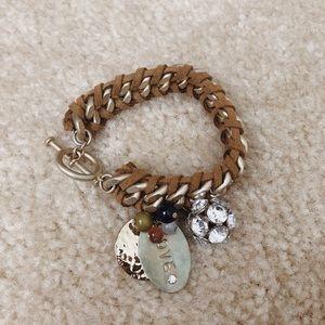 American Eagle Braided Charm Bracelet